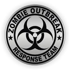 Zombie 2 2 Inch Round Decal