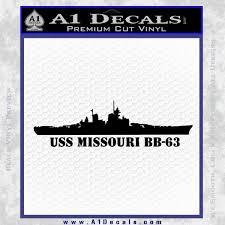 Uss Missouri Battleship Decal Sticker A1 Decals