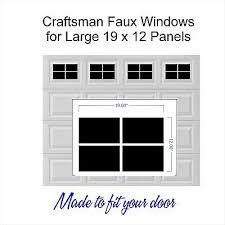 Carriage Craftsman House Faux Window Garage Door Vinyl Decals Fits 8x15 Style A1