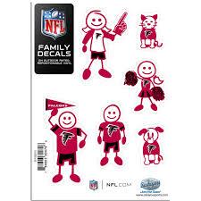 Atlanta Falcons Family Decal Set Small