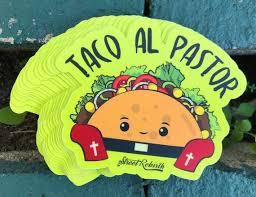 Taco Al Pastor Sticker 4 Inch Water Proof Vinyl Sticker Etsy