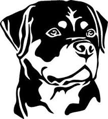 Rottweiler Dog K9 Rottie Vinyl Decal Sticker Ebay