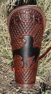 custom leather welding arm pad cuff and