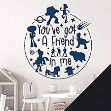 Disney Toy Story Decal Wall Sticker You Ve Got A Friend In Me Woody And Buzz