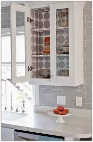 contact paper lined glass cabinets