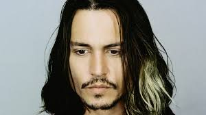 Wallpaper johnny depp, eyes, brown hair, dyed, long-haired
