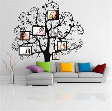 Amazon Com Tree With Picture Frames Flowers Butterflies Family Photo Forest Branches Art Decor Sticker Free Random Decal Gift Inspirational Wall Decal Church Wall Decal Daycare Wall Decal Bible Hymn Home