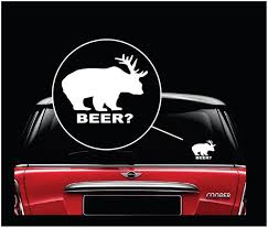 Deer Plus Bear Equals Beer Ii Funny Hunting Window Decal Sticker Custom Sticker Shop