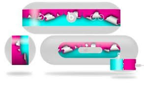 Skin For Beats Pill Plus Ripped Colors Hot Pink Neon Teal Decal Wrap Ebay