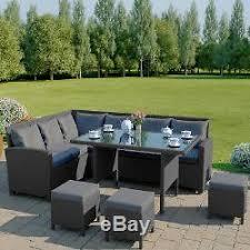 rattan garden furniture corner set