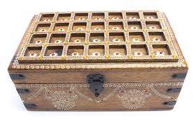 wooden handicraft jewellery box