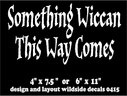 Oracal Witch Decal Something Wiccan This Way Comes Vinyl Car Window Pagan Sticker