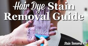 hair dye sn removal guide