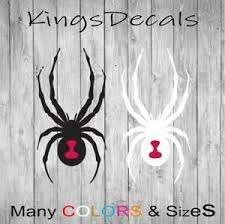 Black Widow Spider Vinyl Decal Sticker Wall Art Car Window Bumper Black White Ebay