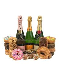 deluxe chagne and donut gift set