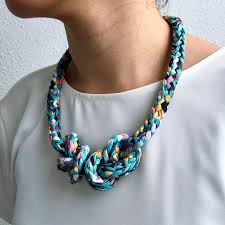 handmade t shirt yarn necklace