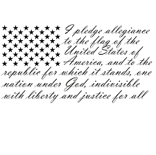 Pledge Of Allegiance Flag Decal Pledge Of Allegiance Wall Decal