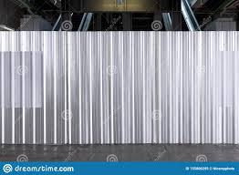 Metal Plate Sheet Fence Seamless Surface Of Galvanized Steel Texture Corrugated For Wall In A Construction Site And Industrial Stock Image Image Of Aluminum Flat 155806295