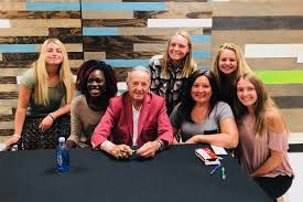 Legendary FSU coach Bowden shares faith at Palm Coast Community Church - Abigail  Lee, Sydney Luther, former FSU coach Bobby Bowden, Mia Candiff, Julie  Menendez, Sophie Cook and Sally Cook. Courtesy photo |