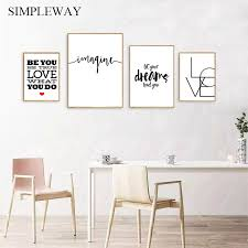 hot price b motivational quotes canvas poster black white