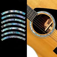 Amazon Com Inlay Sticker Decal Acoustic Guitar Purflinng Sound Hole In Abalone Theme Rosette Strip Abalone Mixed Musical Instruments