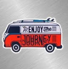 Enjoy The Journey Vinyl Decal Sticker Car Truck Laptop Vw Camper Van 16 Hippie Ebay