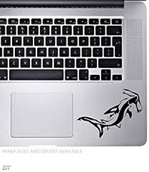 Amazon Com Hammerhead Palm Rest Sticker Decal For Macbook Pro Pc Laptop Window Car Or Wall Computers Accessories