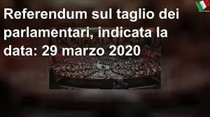 Referendum sul taglio dei parlamentari, indicata la data: 29 marzo ...