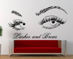 Eyelashes Beauty Salon Wall Decal Decal Eyelash Wall Decal Etsy