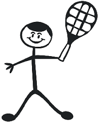 Tennis Dad Decal 13 Family Figure Stick People Car Stickers Wildlife Decal