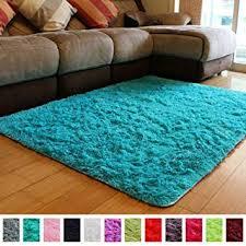 pagisofe soft fluffy blue area rugs