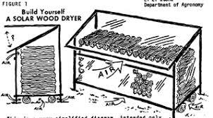 solar wood drying