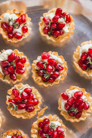 pomegranate goat cheese bites fox and