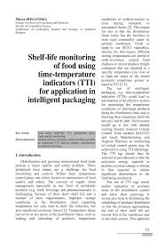 pdf shelf life monitoring of food