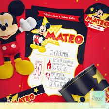 Invitaciones Cumpleanos Mickey Gratis Drawer Wall