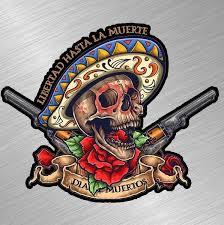 Day Of The Dead Skull Vinyl Decal Sticker Gun Mexican Life Liberty Sugar Skull Wall Decals Car Window Sticker Wish