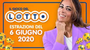Estrazione Lotto 6 giugno 2020 con 10 e Lotto e Simbolotto