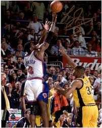 """Larry Johnson New York Knicks Autographed 8"""" x 10"""" Four Point Play ..."""