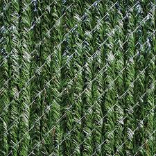 Yardgard 4 Ft H X 5 Ft W Green Privacy Hedge Slat Vinyl Fence Panel 330348gr The Home Depot