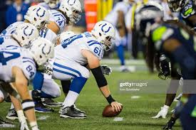 Center Adam Redmond of the Indianapolis Colts gets ready to snap ...
