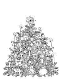 Kids N Fun Kleurplaat Kerstmis Voor Volwassenen Kerstboom