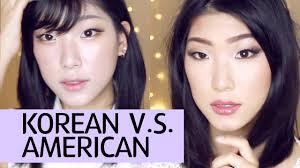 korean vs american makeup styles