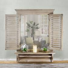 villanueva window shutter wall mirror