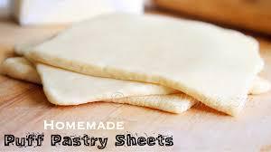homemade puff pastry sheet