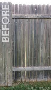 How To Stain A Fence Painted Wood Fence Cedar Fence Stain Fence Paint Colours