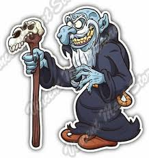 Evil Cartoon Wizard Magician Troll Gift Car Bumper Vinyl Sticker Decal 4 X5 Ebay