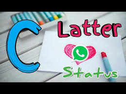 c letter whatsapp status love