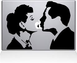 Amazon Com Lucy And Ricky Kissing Silhouette 5 5 Tall I Love Lucy Tv Series Symbol Custom Die Cut Decal Black Color Arts Crafts Sewing