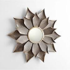 decorative flower bloom wall mirror