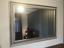 how to set up wavy ikea wall mirror